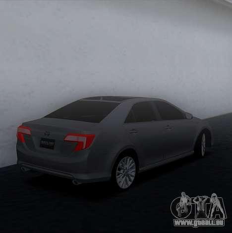 Toyota Camry 2013 USA pour GTA San Andreas laissé vue