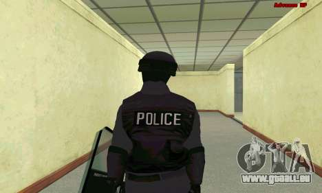 Haut SWAT GTA 5 für GTA San Andreas sechsten Screenshot