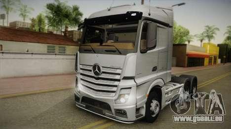 Mercedes-Benz Actros Mp4 6x4 v2.0 Steamspace v2 pour GTA San Andreas