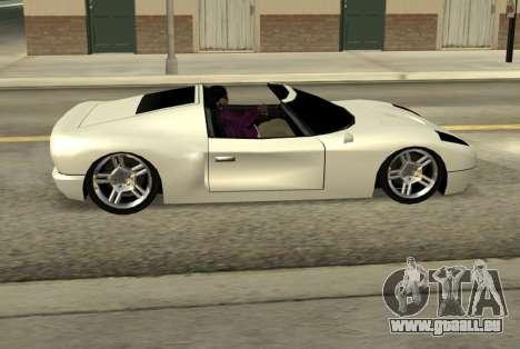Bullet Spyder für GTA San Andreas linke Ansicht