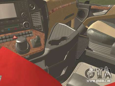 Mercedes-Benz Actros Mp4 4x2 v2.0 Gigaspace v2 pour GTA San Andreas vue de côté
