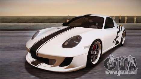 Ruf RK Coupe (987) 2007 HQLM pour GTA San Andreas vue arrière