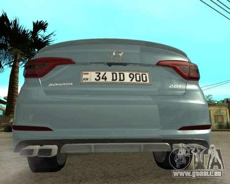 Hyundai Sonata Armenian pour GTA San Andreas sur la vue arrière gauche