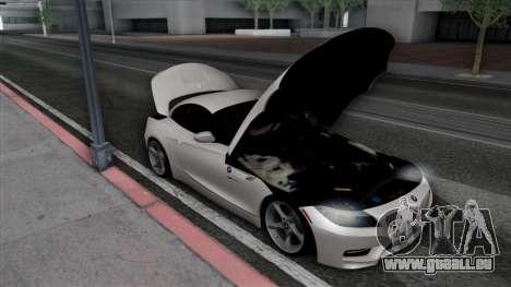 BMW Z4 pour GTA San Andreas vue de dessous