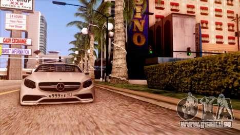 Mercedes-Benz S63 pour GTA San Andreas sur la vue arrière gauche