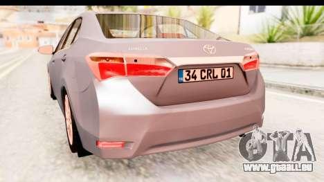 Toyota Corolla 2014 IVF für GTA San Andreas Seitenansicht