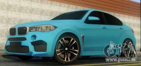 BMW X6M F86 pour GTA San Andreas vue arrière