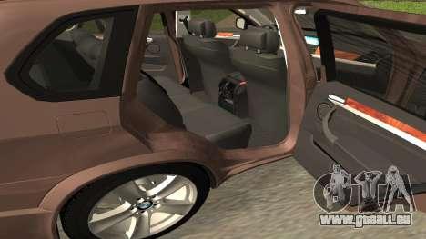 BMW X5M pour GTA San Andreas vue arrière