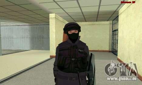 Haut SWAT GTA 5 für GTA San Andreas siebten Screenshot