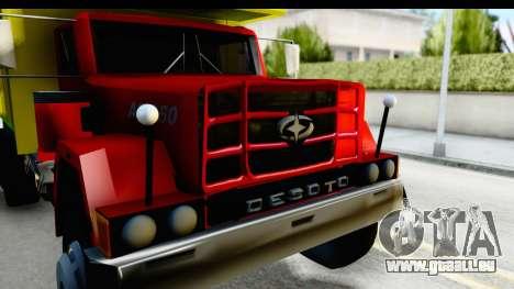 Desoto AS 950 pour GTA San Andreas vue arrière