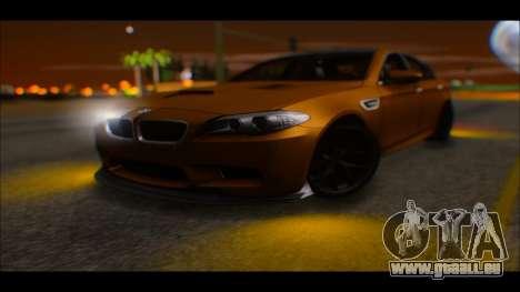 BMW M5 F10 2014 pour GTA San Andreas vue de droite
