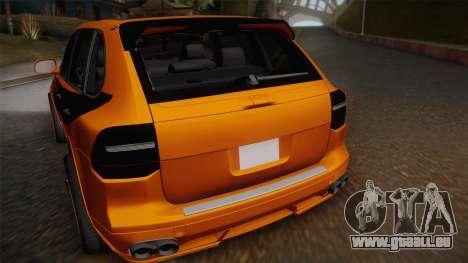 Porsche Cayenne 2007 Tuning pour GTA San Andreas vue arrière
