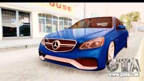 Mercedes-Benz E63 AMG pour GTA San Andreas vue de droite