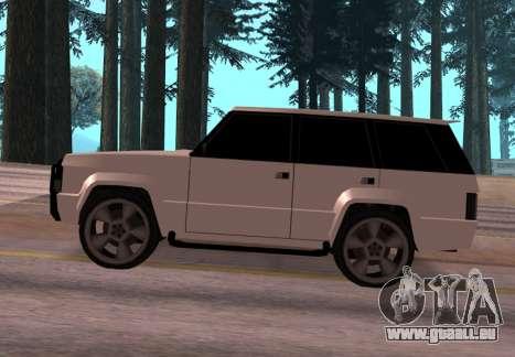 Huntley Rover pour GTA San Andreas laissé vue