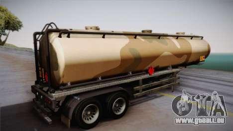 GTA 5 Army Tank Trailer IVF für GTA San Andreas linke Ansicht