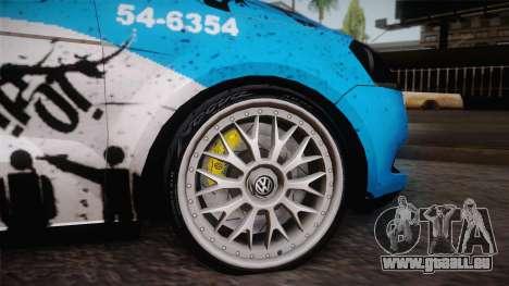 Volkswagen Voyage G6 Pmerj Graffiti pour GTA San Andreas vue de droite