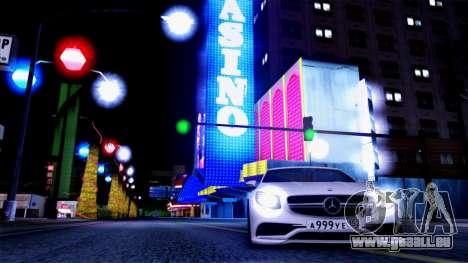 Mercedes-Benz S63 pour GTA San Andreas vue de côté
