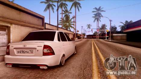 Lada Priora Autozvuk v.2 pour GTA San Andreas laissé vue