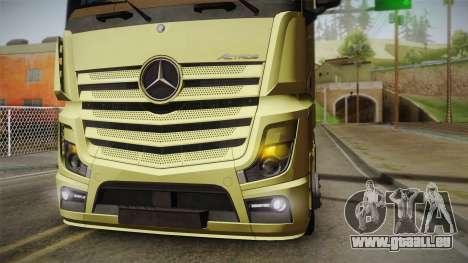 Mercedes-Benz Actros Mp4 6x4 v2.0 Steamspace für GTA San Andreas rechten Ansicht