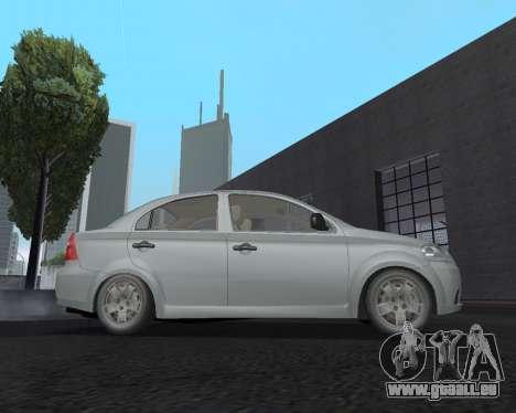 Chevrolet Aveo Armenian pour GTA San Andreas laissé vue