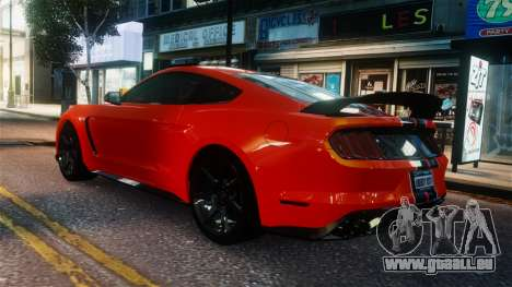 Shelby GT350R 2016 für GTA 4 hinten links Ansicht