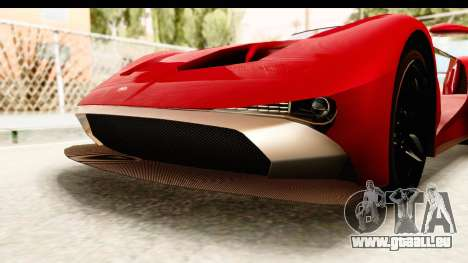 GTA 5 Vapid FMJ IVF pour GTA San Andreas vue de dessous