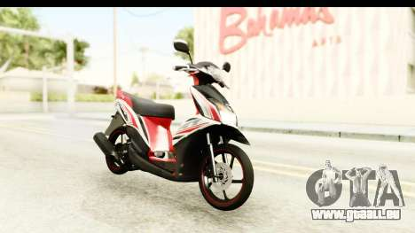 Yamaha Mio GT Standart für GTA San Andreas