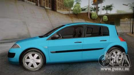 Renault Megane 2 Hatchback v2 pour GTA San Andreas sur la vue arrière gauche