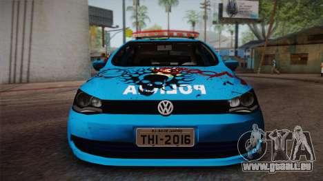 Volkswagen Voyage G6 Pmerj Graffiti pour GTA San Andreas sur la vue arrière gauche