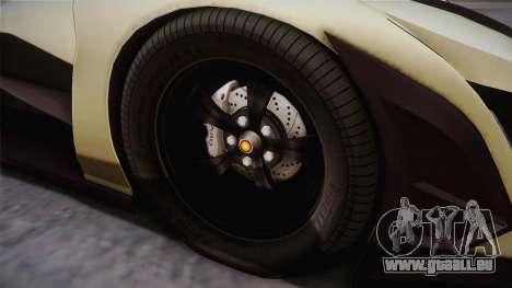 Devel Sixteen pour GTA San Andreas vue arrière