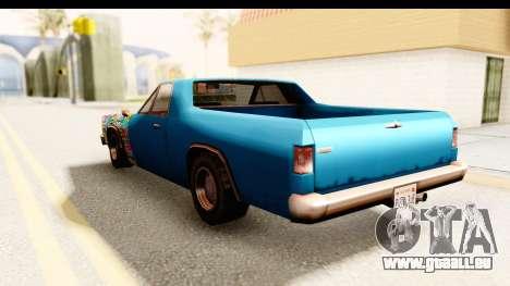 Picador Sticker Bomb pour GTA San Andreas sur la vue arrière gauche