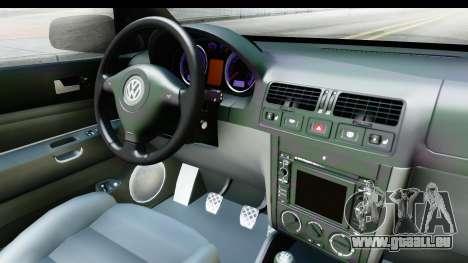Volkswagen Golf Mk4 Pickup pour GTA San Andreas vue intérieure
