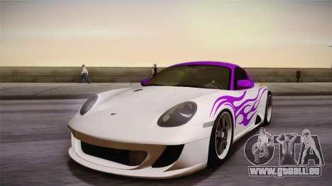 Ruf RK Coupe (987) 2007 HQLM pour GTA San Andreas vue intérieure
