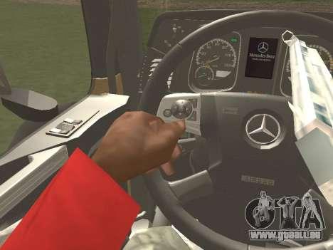 Mercedes-Benz Actros Mp4 4x2 v2.0 Steamspace für GTA San Andreas Innenansicht