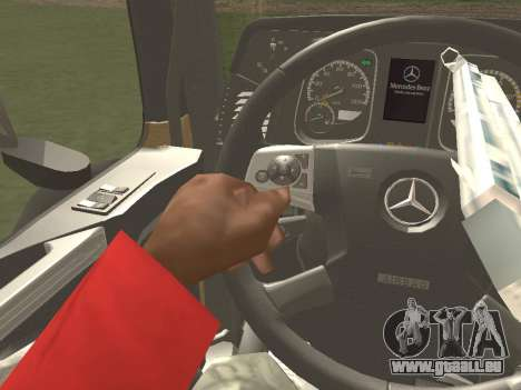 Mercedes-Benz Actros Mp4 6x4 v2.0 Steamspace für GTA San Andreas obere Ansicht