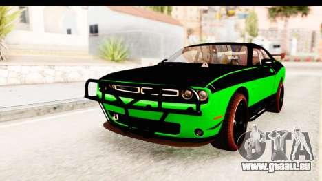 Dodge Challenger F&F 7 pour GTA San Andreas sur la vue arrière gauche