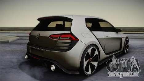 Volkswagen Golf Design Vision GTI pour GTA San Andreas laissé vue