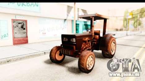 Modern Tractor pour GTA San Andreas sur la vue arrière gauche