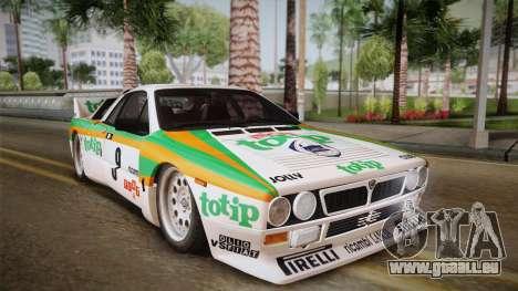 Lancia Rally 037 Stradale (SE037) 1982 Dirt PJ2 für GTA San Andreas zurück linke Ansicht