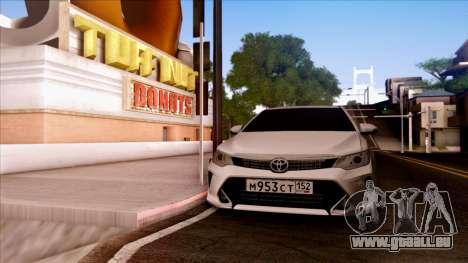 Toyota Camry 2016 für GTA San Andreas