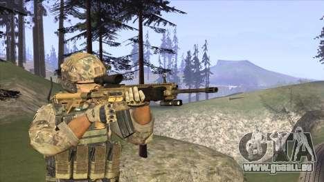 HK416A5 pour GTA San Andreas deuxième écran