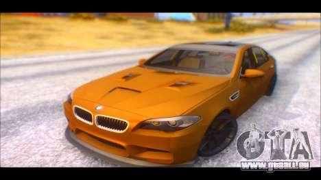 BMW M5 F10 2014 pour GTA San Andreas sur la vue arrière gauche