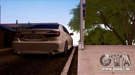 Toyota Camry 2016 pour GTA San Andreas laissé vue