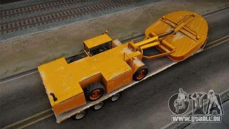 GTA 5 Army Flat Trailer with Cutter IVF pour GTA San Andreas sur la vue arrière gauche