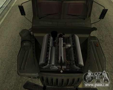 Ural 4320 Armenian für GTA San Andreas Innenansicht