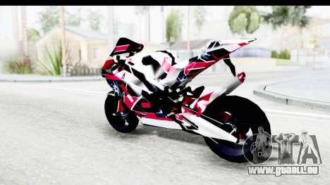 Dark Smaga Motorcycle with Frostbite 2 Logos für GTA San Andreas linke Ansicht