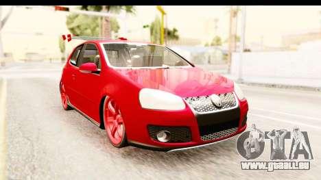Volkswagen Golf GTI pour GTA San Andreas sur la vue arrière gauche