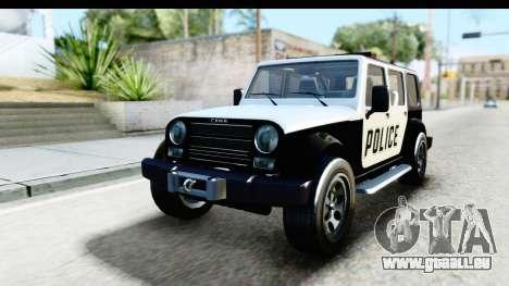 Canis Mesa Police für GTA San Andreas