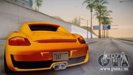 Ruf RK Coupe (987) 2007 IVF für GTA San Andreas obere Ansicht