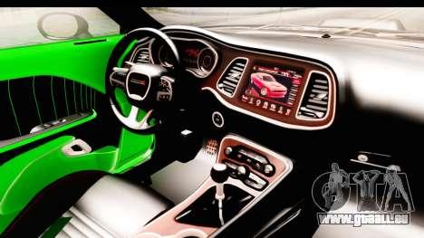Dodge Challenger F&F 7 pour GTA San Andreas vue intérieure